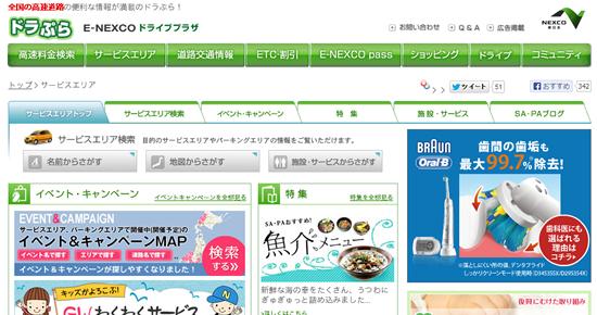 nexco東日本サービスエリアガイド