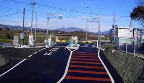 スマートインターチェンジ設置実験中の関越自動車道