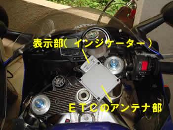 バイクETC車載器アンテナ部