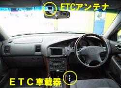 ETC車載器アンテナ分離型